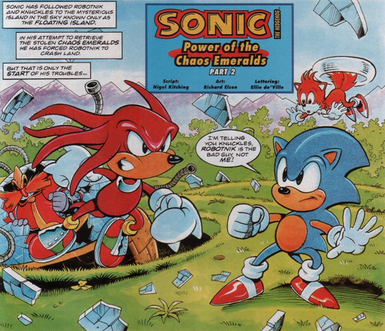 File:Sonic vs Knuckles Sonic the Comic.png