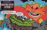 Robotnik holding the Floating Island