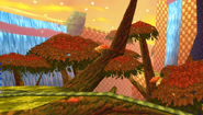 Sunset Forest Background 2