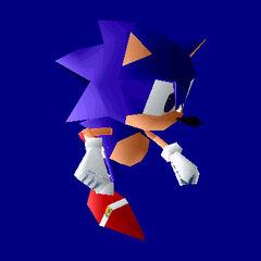 Supuesto modelo virtual de Sonic.