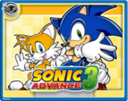 Sonic Advance 3 Online Card
