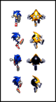 Similarities with ristar and sonic jump sprite