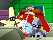 Ep23 Bocoe Decoe and Eggman watching the fight on screen
