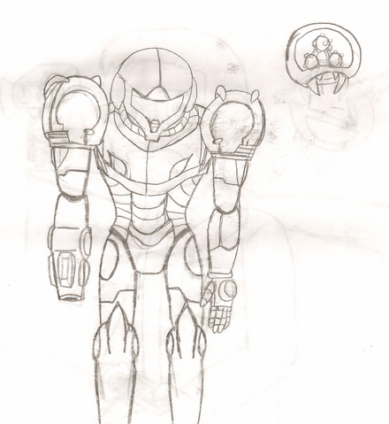 File:Samus Aran and the Baby Metroid.png