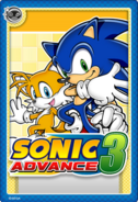 Sonic Advance 3 Stampii trading card
