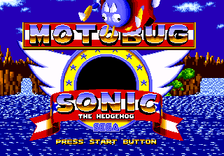 File:Motobug the Badnik in Sonic 1 title screen.png