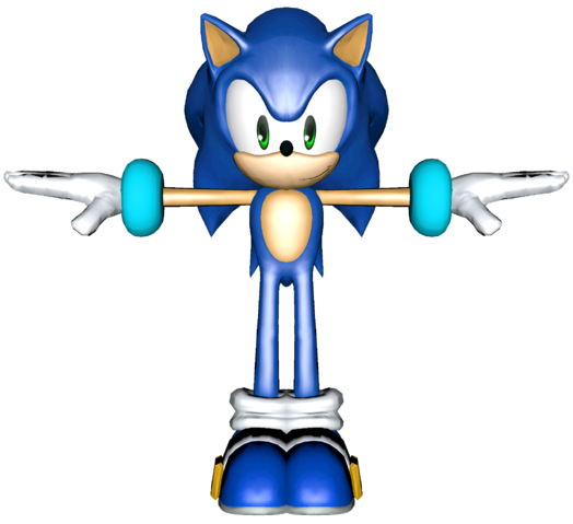 File:Smash Bros Wii U Sonic Alt Costume Model 2.png