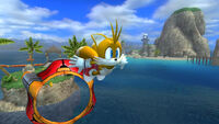 Tails in Wave Ocean