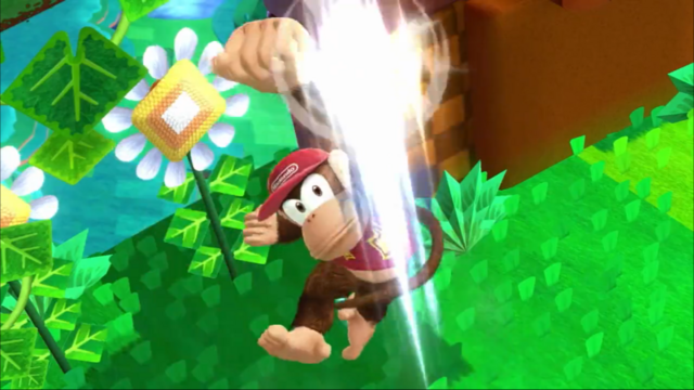 File:SSB4 Diddy Kong on Windy Hill.png