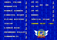 Level Select Sonic 3