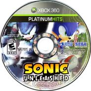 Sonic Unleashed Platinum Hits Disc