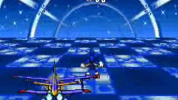 Sonic advance 3 Special Stage 2 (Blue Choas Emerald) as Sonic