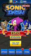 Sonic Dash Espio Character Select