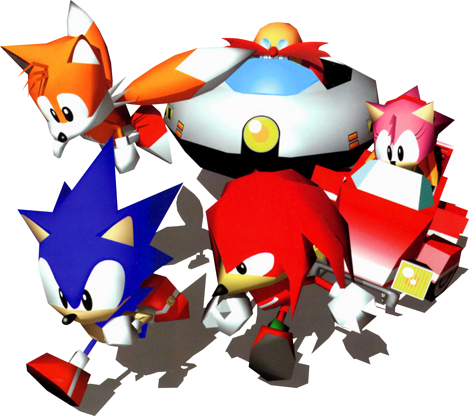 File:Sonic and Tails, Amy, Knuckles and Robotnik.png