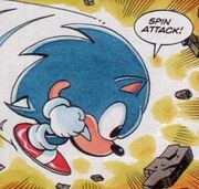 Sonic Spin Attack the Comic