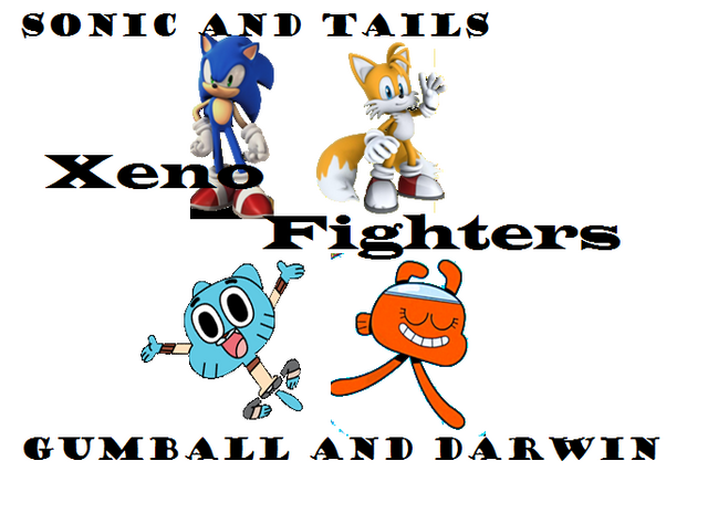 File:Gumball and dawin,Sonic and tails.png