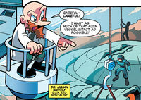 Snively taking Alien Vessel