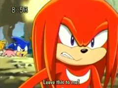 Knuckles defends his friends