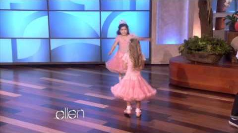 Sophia and Rosie Dance During Break