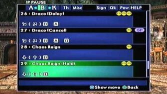 SoulCalibur II PS2 Necrid's Command List