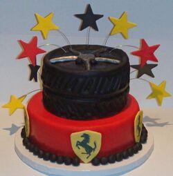 Birthday - Ferrari cake