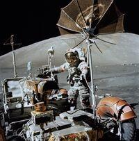 Apollo 17- Lunar Roving Vehicle and Eugene Cernan