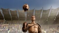 Spartacus Blood and Sand Death of Solonius