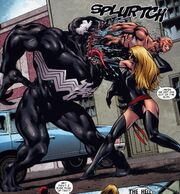 Ms. Marvel tearing Mac Gargan out of the Symbiote