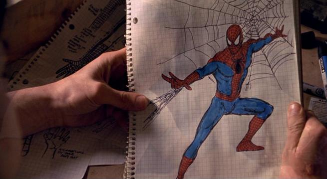 Костюм человека паука рисовать