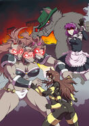 Spinnerette vs were cerberus by krazykrow-d3cgplt