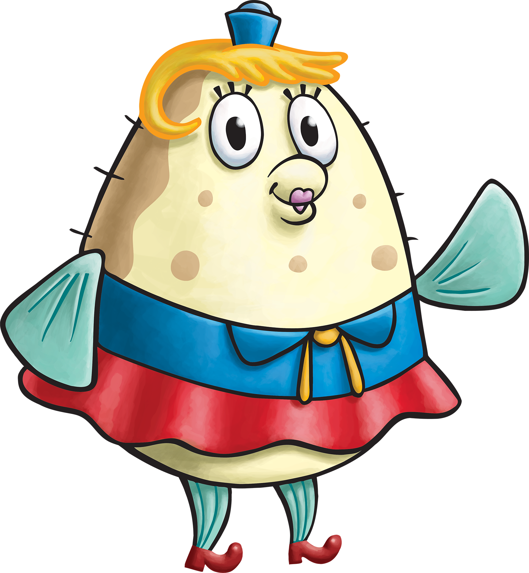 Mrs puff and spongebob