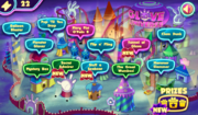 Glove Universe (online game) - Valentine's Day map screen