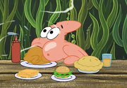 Patrick Swallowing The Chicken