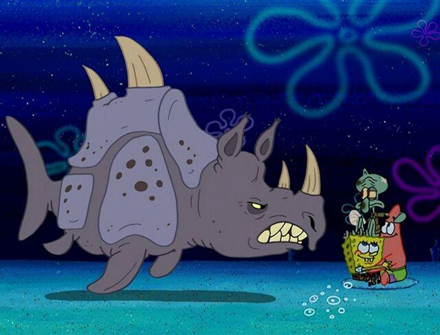 File:Squidward, Spongebob, Patrick, & 1 Sea Rhino.jpg