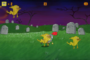 Ghost Slayer SpongeBob getting attacked