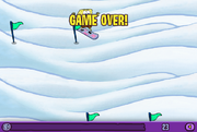 SpongeBob SnowShredder Game Over