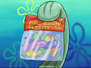 Quasi-Gummy Chewy Candy Fish