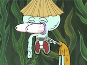 Squidward Surprised For The Club