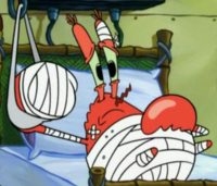 Bandaged Mr. Krabs