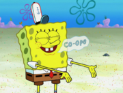 SpongeBob's eyelashes mistake in The Other Patty