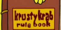 Krusty Krab Rule Book