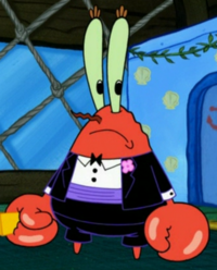 Mr. Krabs Wearing Fancy Clothes3