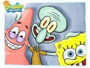 Spongebob,squidward & patrick