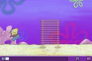 SpongeBob bumping into bamboo bars in Skater Sponge
