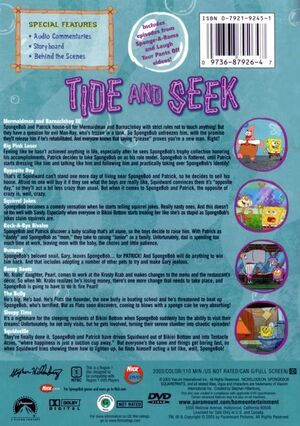 Tide and Seek DVD Back Cover