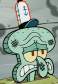 Squidward with a Burnt Face