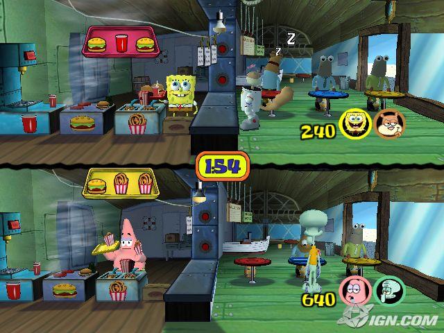 File:3d Spongebob, 3d Squidward & 2 3d Costumers, 3d Sandy & 1 3d Costumers, & 3d Patrick.jpg