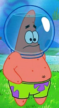 Patrick Wearing His Water Helmet