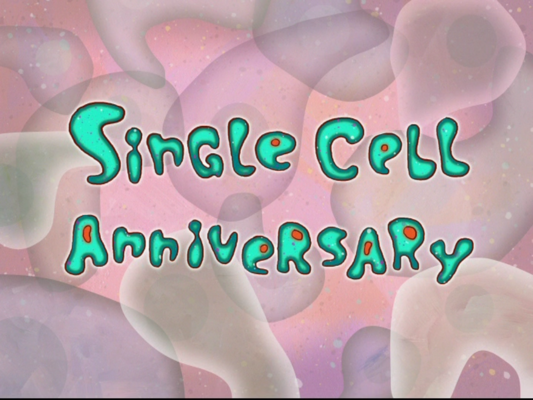 single cell anniversary transcript encyclopedia spongebobia