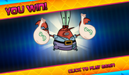 Bikini Bottom Brawlers Robot Krabs you win